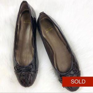 SOLD Stuart Weitzman Quilt Patent Leather Flats